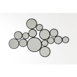 Mirror  Bubbles Black 93x138cm
