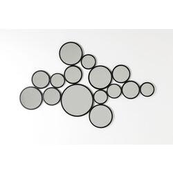 Specchio Bubbles nero 93x138cm