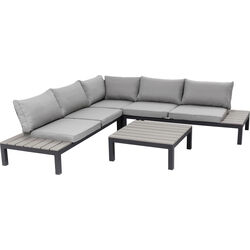 Sofa Set Holiday Black (4-Pieces)
