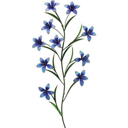 Coat Rack Blue Flowers