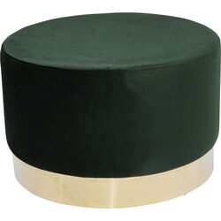 Stool Cherry Dark Green Brass Ø55cm