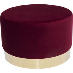 Stool Cherry Bordeaux Brass Ø55cm