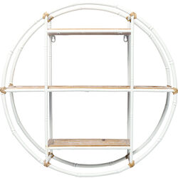 Wall Shelf Jungle Bamboo White Ø60cm