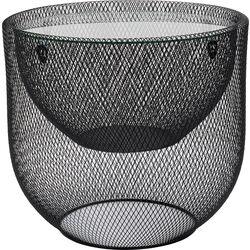 Coffee Table Grid Black Ø50cm