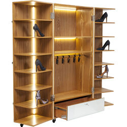 Shoe Cabinet Croco White LED