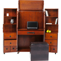 Wardrobe Trunk Office Croco Brown
