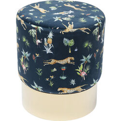 Stool Cherry Jungle Leopard Gold  Ø35cm