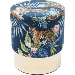Stool Cherry Jungle Tiger Gold  Ø35cm