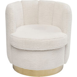 Arm Chair  Silhouette Fur White