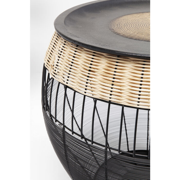 African Drum Coffee Table.Side Table African Drums 2 Set Kare Design