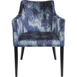 Chair with Armrest Black Mode Fancy Blue