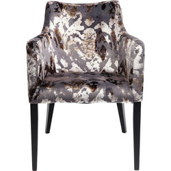 Chair with Armrest Dark Brown Mode Sublime
