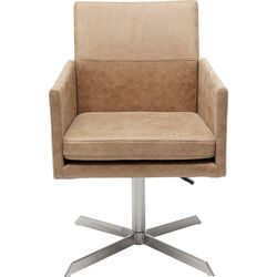 Swivel Arm Chair New York Beige