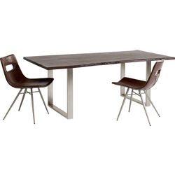 Table Harmony Walnut Chrome 200x100cm
