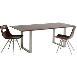 Table Symphony Dark Silver 160x80