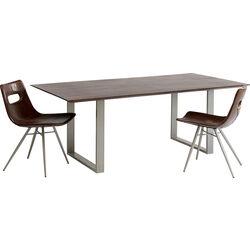 Table Symphony Dark Silver 180x90