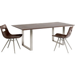 Table Symphony Walnut Chrome 200x100cm