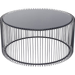 Coffee Table Wire Uno Black Ø80cm