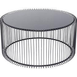 Tavolino da caffè Wire Uno nero Ø80cm