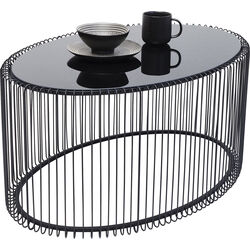 Coffee Table Wire Uno Black 60x90cm
