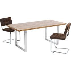 Table Jackie Oak Chrome 180x90