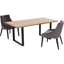 Table Jackie Oak Black 180x90