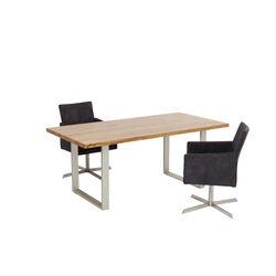 Table Jackie Oak Silver 200x100