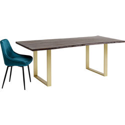 Table Harmony Dark Brass 180x90