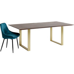 Table Symphony Dark Brass 180x90