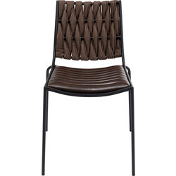 Chair Two Face Dark Brown
