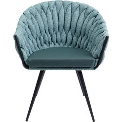 Chair with Armrest Knot Bluegreen