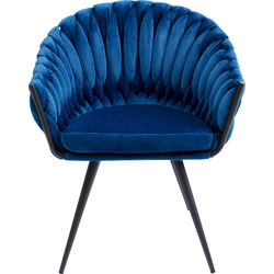 Chair with Armrest Knot Blue