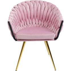 Chair with Armrest Knot Mauve