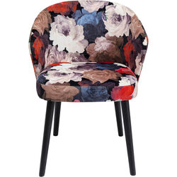 Chair with Armrest Peony Red