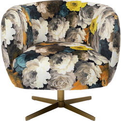 Swivel Armchair Peony Yellow