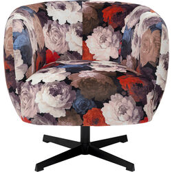 Swivel Chair Peony Red