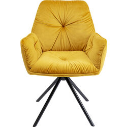 Chair with Armrest Mila Yellow
