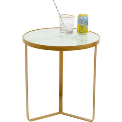 Side Table Marble Gold Ø45