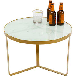 Side Table Marble Gold Ø70cm