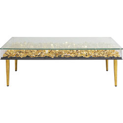 Coffee Table Gold Flowers 120x60