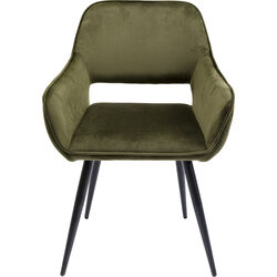 Chair with Armrest San Francisco Dark Green