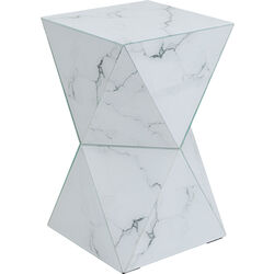 Side Table Luxury Triangle Marble