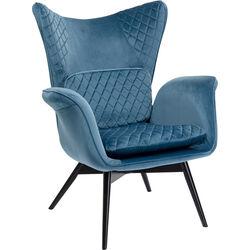 Armchair Tudor Velvet Bluegreen