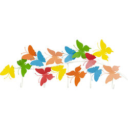 Coat Rack Colorful Butterflies