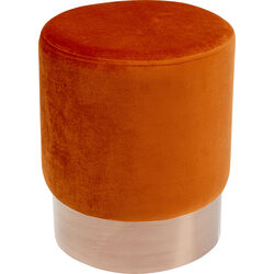 Stool Cherry Dark Orange Copper Ø35cm
