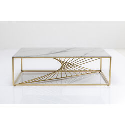 Coffee Table Art Marble Glass 140x70cm