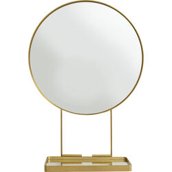 Mirror With Shelf Curve Art Ø60