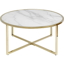 Coffee Table West Beach Brass Ø80cm
