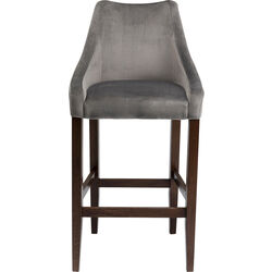 Bar Stool Mode Velvet Grey