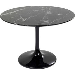 Table Solo Marble Black Ø110
